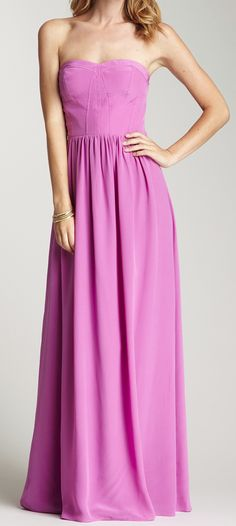 Pink corset gown by Rebecca Taylor. Would be cute as a bridesmaid's dress too. *Even tho I dont want bridesmaids.