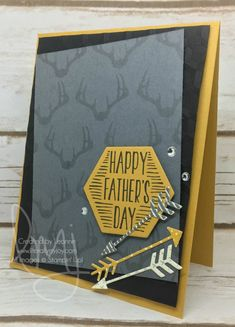 Antlers & Arrows | Stampin' Up! | Bookcase Builder | Nailed It #literallymyjoy #hunter #masculine #fathersday #dad #father #antlers #arrows #2017OccasionsCatalog