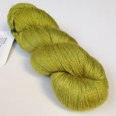 Nature's Luxury camel/silk in a beautiful Chartreuse.