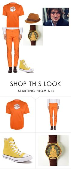 JAKE by destine-cassady on Polyvore featuring Hanes, Dsquared2, Converse, FOUR BUTTONS, men's fashion and menswear