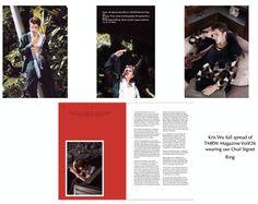 Kris Wu's full spread in TMRW Magazine Vol wearing our Men's Oval Signet Ring Oval Rings, Kris Wu, Signet Ring, Line Design, Magazine, How To Wear, Magazines, Warehouse, Newspaper