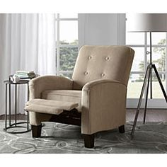 @Overstock - Brooklyn Camel Recliner - Traditional furniture design gets a modern update in this  sc 1 st  Pinterest & Mid Century Modern Recliner Chair in the Baughman Style/Low ... islam-shia.org