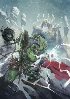 ArtStation - Fighting in Asgard (aka Thor vs Hulk)⠀, Daniele Afferni DAF Hq Marvel, Marvel Heroes, Marvel Characters, Mundo Marvel, Book Characters, Captain Marvel, World War Hulk, Planet Hulk, Comic Books Art