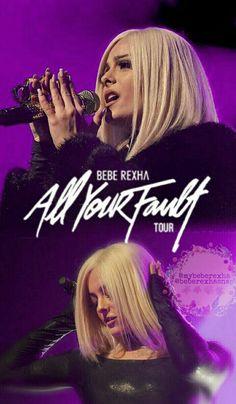LOCKSCREEN DE BEBE REXHA. All Your Fault Tour. Instagram: beberexhasnap