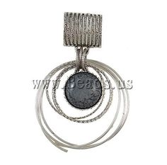 Zinc Alloy Pendants, antique silver color plated, nickel, lead & cadmium free, 60x95x7mm,china wholesale jewelry beads