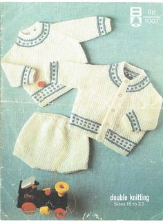 Bellmans 1007 baby jumper and cardigan set vintage knitting pattern