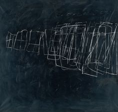 cy twombly | Cy Twombly, Untitled (Rome) , 1966. Oil, wall paint, grease crayon on ...