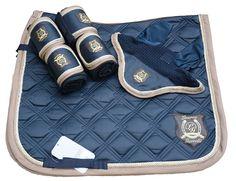 HKM Navy and mink dressage matchy set