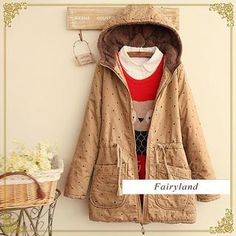 Buy 'Fairyland – Star Print Drawstring-Waist Hooded Parka' with Free International Shipping at YesStyle.com. Browse and shop for thousands of Asian fashion items from China and more!