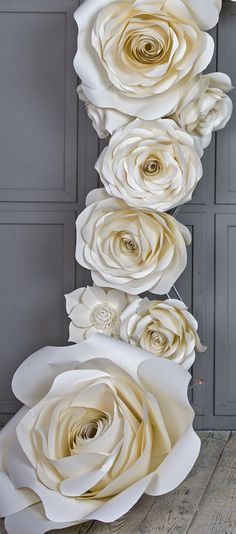 Paperflowers my fav to create event set ups in 2018 pinterest wedding arch paper flowers wedding venue decoration white mightylinksfo