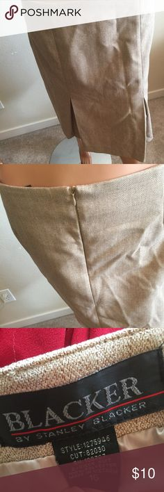 Blacker Business Skirt Tan skirt. Goes pass the knees. Good for work or with some heels for a business casual look. Or spruce it up with a blazer. Worn only twice, bought from a second hand store. Skirts Pencil