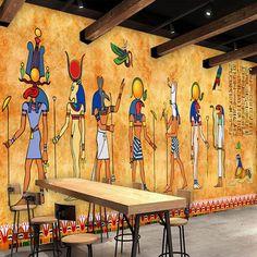 Custom Mural Wallpaper Ancient Egypt Large Wall Murals Bar KTV
