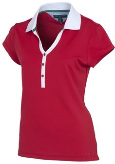 Tommy Hilfiger Golf Meryl Poly Polo  #golf4her #patrioticstyle