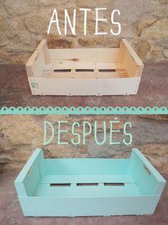 DIY: Caja de fruta reciclada | Fuxia Atelier