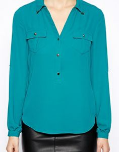 Oasis- Relaxed Shirt w/ Collar $70
