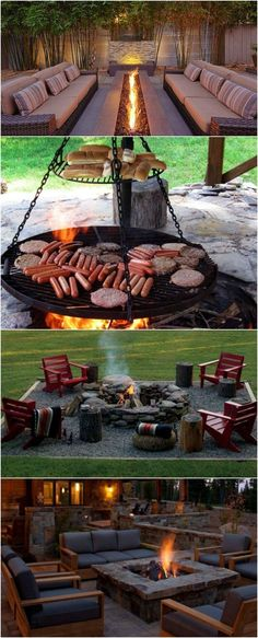 Fire Pit Ideas Backyard Landscaping - Try turning off your TV and stashing the remote for a better family time. Go to your backyard and sit around the fire pit to maintain a conversation, instead. Fire Pit Landscaping, Fire Pit Backyard, Backyard Patio, Landscaping Ideas, Desert Backyard, Backyard Layout, Backyard Playground, Sloped Backyard, Garden Fire Pit