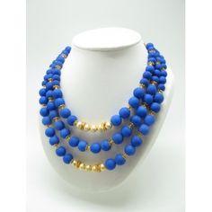 Collar Vilma azul Klein. Nueva colección PV de Marta Junco en www.luxeli.com