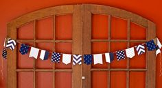 This nautical bunting is perfect for any party, child's room, nursery or just to hang on the wall! Boys Nautical Bedroom, Nautical Bunting, Engagement Inspiration, 4th Of July Wreath, Etsy Shop, Boho, Baby Showers, Unique Jewelry, Spinning