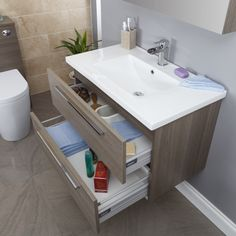 The UK Wood Wall Hung Bathroom Vanity Units Shop. Huge Range of Wood Wall Hung Bathroom Vanity Units in stock. Bathroom Basin Units, Wall Hung Bathroom Vanities, Fitted Bathroom, Loft Bathroom, Wall Hung Vanity, Bathroom Cabinets, Small Bathroom, Master Bathroom, Bath Shower Combination