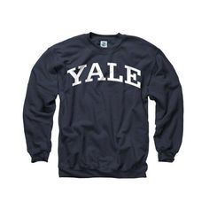 Yale Bulldogs Navy Arch Crewneck Sweatshirt ($30) ❤ liked on Polyvore featuring tops, hoodies, sweatshirts, sweaters, shirts, crewneck sweatshirt, sport sweatshirts, sweat shirts, crewneck shirt and navy blue crewneck sweatshirt
