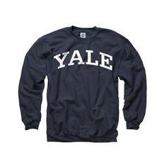 Amazon.com: Yale Bulldogs Navy Arch Crewneck Sweatshirt: Sports &... ($32) ❤ liked on Polyvore