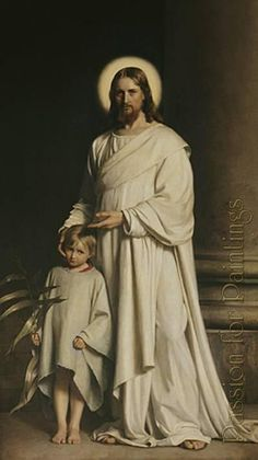 Carl Heinrich Bloch - Carl heinrich bloch christ and boy - Oil painting reproduction