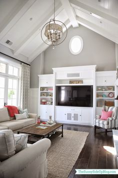 Sunny Side Up: Family room update (pops of coral)