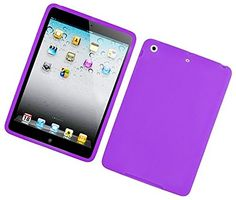 """Orchid Petal Purple {Matte Modern Plain} Soft and Smooth Silicone Cute 3D Fitted Bumper Back Cover Gel Case for iPad Mini 1, 2 and 3 by Apple """"Durable and Slim Flexible Fashion Cover with Amazing and Creative Cartoon Design - All Ports Accessible"""" mySimple Products http://www.amazon.com/dp/B00WL7DCWS/ref=cm_sw_r_pi_dp_AulCwb05PG995"""
