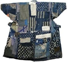 Traditional Boro used patchwork quilting and sashiko stitching to mend and extend the life of all pieces of worn fabric in a household.
