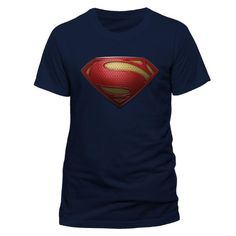 From 8.34 Cid Men's Superman Man Of Steel - Textured Logo T - Shirts Blue Medium