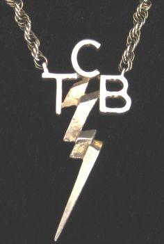 Elvis Presley's TCB Logo, Gold