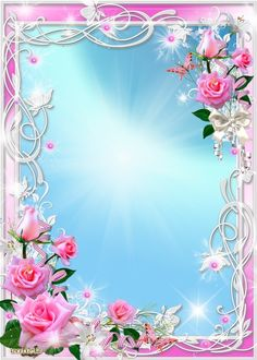 ✼ ✻ ✺ ✹ ✸ ✷ ₪ ❃ ❂ ❁ ❀ Photo Frame Wallpaper, Framed Wallpaper, Rose Wallpaper, Frame Border Design, Photo Frame Design, Rose Frame, Flower Frame, Abstract Art Images, Boarders And Frames