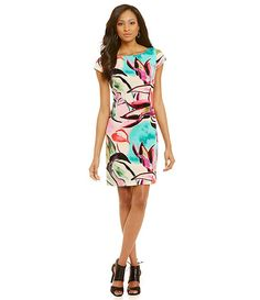Vince Camuto Waterfloral Shift Dress