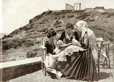 Σουνιο 1930....   !!!!!!!!!!!!!!!!!!! Vintage Pictures, Old Pictures, Old Photos, What A Country, Greece Pictures, Greece Photography, Greek History, Athens Greece, World Of Color