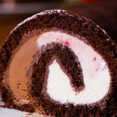 Neapolitan Ice Cream Cake Roll