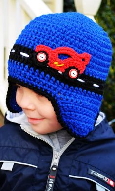 crochet race car hat. inspiration.