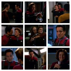 """Episode: Shattered. Chakotay grabs his secret stash of Antarian cider to share with his beloved Kathryn. A crisis interrupts their date night which leads Chakotay to abduct a """"in-the-past"""" version of Janeway. He totally invades her personal space, literally touching her to say they have to work together. *dies* """"in-the-past"""" Seska grabs Janeway and her faithful first officer is concerned. Janeway asks how close they get and Chakotay pauses. He can't answer right away. It's like he doesn't…"""