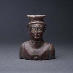 Sabean Bronze Bust of a Man - Barakat Gallery Store Ancient Art, Ancient History, Neck Rings, High Cheekbones, Biblical Art, Large Eyes, 1st Century, Suit Of Armor, Deities