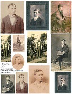 Collage Sheets Vintage Gentlemen