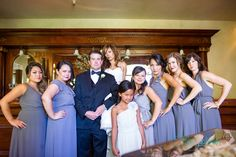 Alex and Carmen | Vintage Estate Wedding | Yountville, Ca | Brides' Maids Dresses | Brides' Maids Dress Ideas | Grey | Joanna August