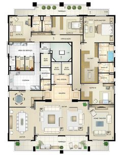 """riad"" ""floor plan"" home interior garden Sims House Plans, House Layout Plans, New House Plans, Dream House Plans, House Floor Plans, The Plan, How To Plan, Layouts Casa, House Layouts"