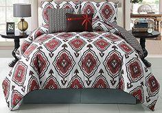 Victoria Classics Weston 5-Piece Reversible Comforter Set, King, Red Victoria Classics http://www.amazon.com/dp/B00GMMTTZM/ref=cm_sw_r_pi_dp_mR1Ewb00K0AVP