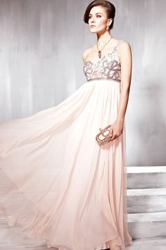 Beaded One Shoulder Long Evening Prom Dress Formal Ball Gown