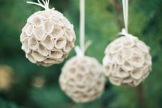 might need to make these cute felt ornaments to make up for the fact there is no snow for real snowballs here!
