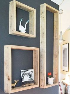 DIY Wood Working Projects: Set of 3 Rustic reclaimed floating shelves wall di. wood shelves Set of 3 Rustic reclaimed floating shelves wall display Box shadow shelf. Wooden Shelves, Wall Shelves, Floating Shelves, Shelving, Wooden Frames, Box Shelves, Rustic Shelves, Wood Shelf, Corner Shelves