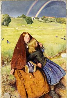 'The Blind Girl' by John Everett Millais (1856). He was an original member of The Artists Rifles.