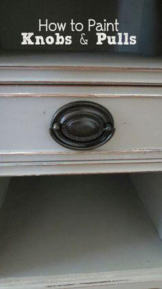 How to Paint Knobs & Hardware... Use the side arrows on the picture to read thru how to do it - the diy is NOT below the pic! (Ask me how I figured that out...)