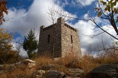 Ramapo Mountain State Forest: 42 min.  This route takes in Ramapo Lake, Van Slyke Castle ruins, plus views of the surrounding area and of NYC.