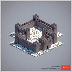 2017 World-o-Walls (Redux) Minecraft Rp, Minecraft Kingdom, Minecraft Building Guide, Easy Minecraft Houses, Minecraft Castle, Minecraft House Designs, Minecraft Construction, Minecraft Blueprints, Minecraft Creations