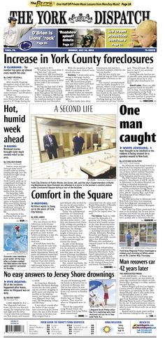 York Dispatch front page for July 16, 2012
